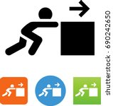 push heavy object icon | Shutterstock .eps vector #690242650