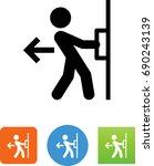 pull door icon | Shutterstock .eps vector #690243139
