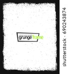 grunge frame   abstract texture.... | Shutterstock .eps vector #690243874
