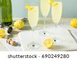 boozy bubbly lemon french 75... | Shutterstock . vector #690249280