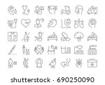 set vector line icons  sign and ... | Shutterstock .eps vector #690250090