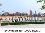 verona city  attractions in... | Shutterstock . vector #690250210