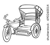 hand drawn sketch of  tricycle  ...   Shutterstock .eps vector #690260014