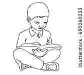 Hand Drawn Sketch Of A Boy Make ...