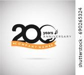 200 years anniversary logo... | Shutterstock .eps vector #690265324