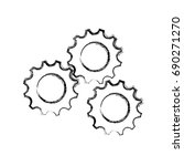 gears machinery pieces | Shutterstock .eps vector #690271270