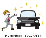 automobile sales. | Shutterstock .eps vector #690277564