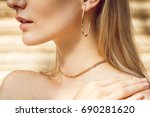 close up of a beautiful young... | Shutterstock . vector #690281620