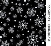 Seamless Pattern Of Snowflakes...
