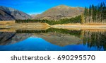 panorama reflection | Shutterstock . vector #690295570