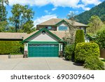 big family house with wide... | Shutterstock . vector #690309604