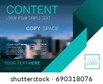 presentation layout design... | Shutterstock .eps vector #690318076