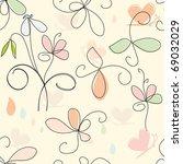 floral seamless pattern | Shutterstock .eps vector #69032029