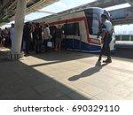 bangkok thailand. august 01... | Shutterstock . vector #690329110