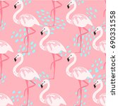 tropical trendy seamless... | Shutterstock .eps vector #690331558