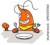 character shrimp   Shutterstock .eps vector #690335560