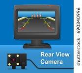 rear view camera video recorder ... | Shutterstock .eps vector #690340996