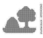 monochrome pixelate silhouette...