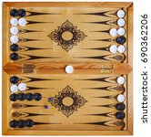 Board For Playing Backgammon...