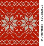 nordic knitted perfect seamless ...   Shutterstock .eps vector #690383623