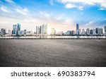 empty road floor surface with... | Shutterstock . vector #690383794
