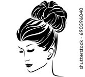 beautiful fashion women half...   Shutterstock .eps vector #690396040