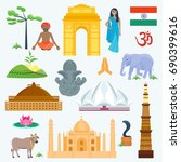 india set asia country vector... | Shutterstock .eps vector #690399616