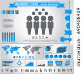 human resources icon set and... | Shutterstock .eps vector #690408439