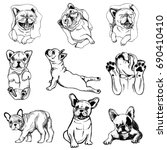 set of hand drawn sketch style...   Shutterstock .eps vector #690410410