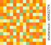 colorful squares. abstract... | Shutterstock . vector #690421774