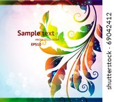 abstract vector illustration... | Shutterstock .eps vector #69042412