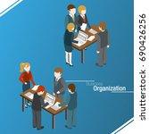 business organization. team... | Shutterstock .eps vector #690426256