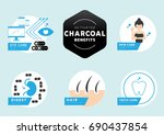 six benefits of activated... | Shutterstock .eps vector #690437854