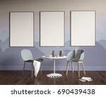 mock up poster with vintage... | Shutterstock . vector #690439438