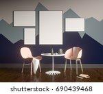 mock up poster with vintage... | Shutterstock . vector #690439468