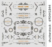 set of vintage decorations... | Shutterstock .eps vector #690441844