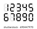 digital numbers isolated vector | Shutterstock .eps vector #690447970