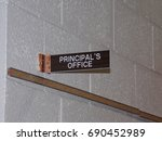 Small photo of principal office sign