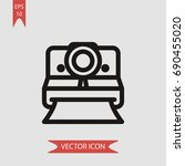 polaroid vector icon ... | Shutterstock .eps vector #690455020