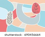 creative geometric colorful... | Shutterstock .eps vector #690456664