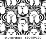 seamless pattern with dogs.... | Shutterstock .eps vector #690459130