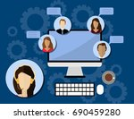 flat style design for online... | Shutterstock . vector #690459280