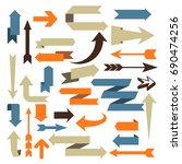 arrow set   set of arrow... | Shutterstock .eps vector #690474256