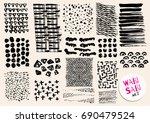 vector hand drawn textures.... | Shutterstock .eps vector #690479524