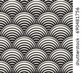 vector seamless rounded lines... | Shutterstock .eps vector #690481756