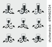 glass of juice icons. objects...   Shutterstock .eps vector #690482524