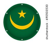 round metallic flag of... | Shutterstock .eps vector #690503530