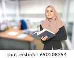 blur background of office... | Shutterstock . vector #690508294