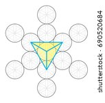 tetrahedron icon vector | Shutterstock .eps vector #690520684