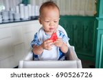 portrait of cute smiling little ... | Shutterstock . vector #690526726